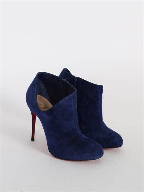 Christian Louboutin - Lisse 100 Suede Cut Out Dark Blue