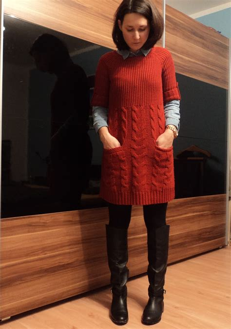My Moonriver: OOTD/ knit dress and riding boots