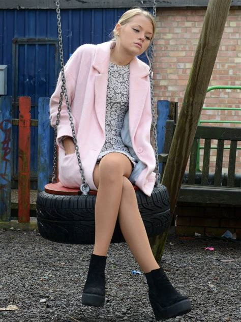 Lucy Beale Pink Coat on Eastenders | Spotted